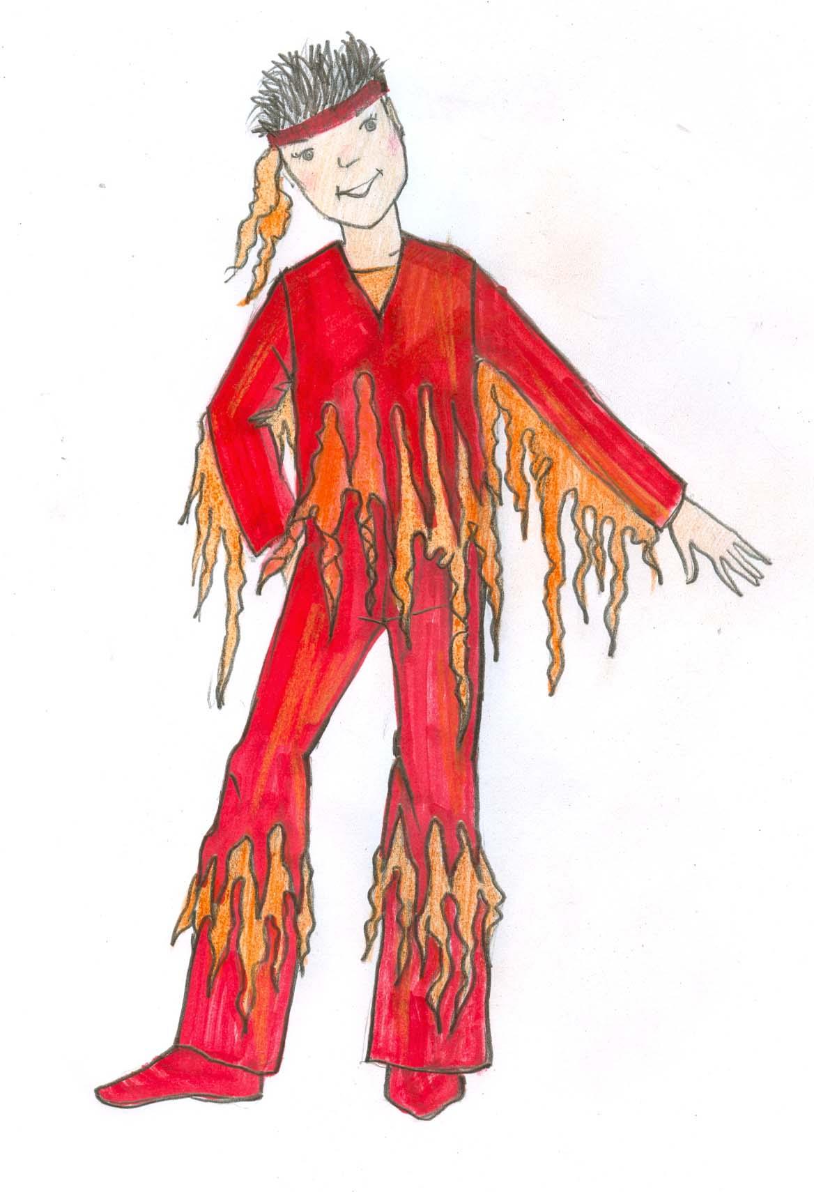 Как сшить костюм огня для девочки 40
